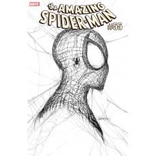 Amazing Spider-Man #55 Gleason 1:50 White Cover Black Ink Webhead Variant