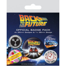 Back to the Future Pin Badges 5-Pack