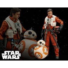 Star Wars - Poe Dameron & BB-8 Two Pack ARTFX+ Statues